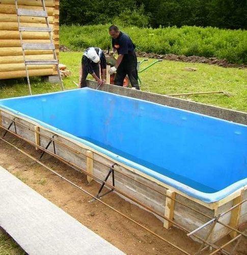 Как самому сделать каркасный бассейн на даче
