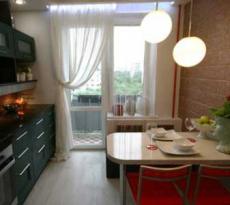 Кухня на балконе: фото дизайна совмещенных кухонь, варианты .
