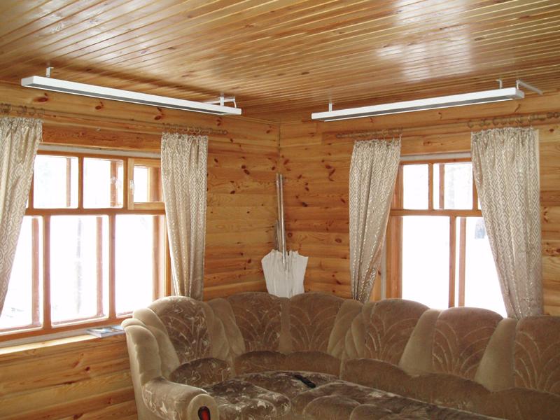 Инфракрасное отопление в деревянном доме