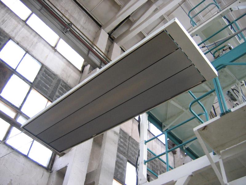 Инфракрасные обогреватели устанавливают и в производственных помещениях