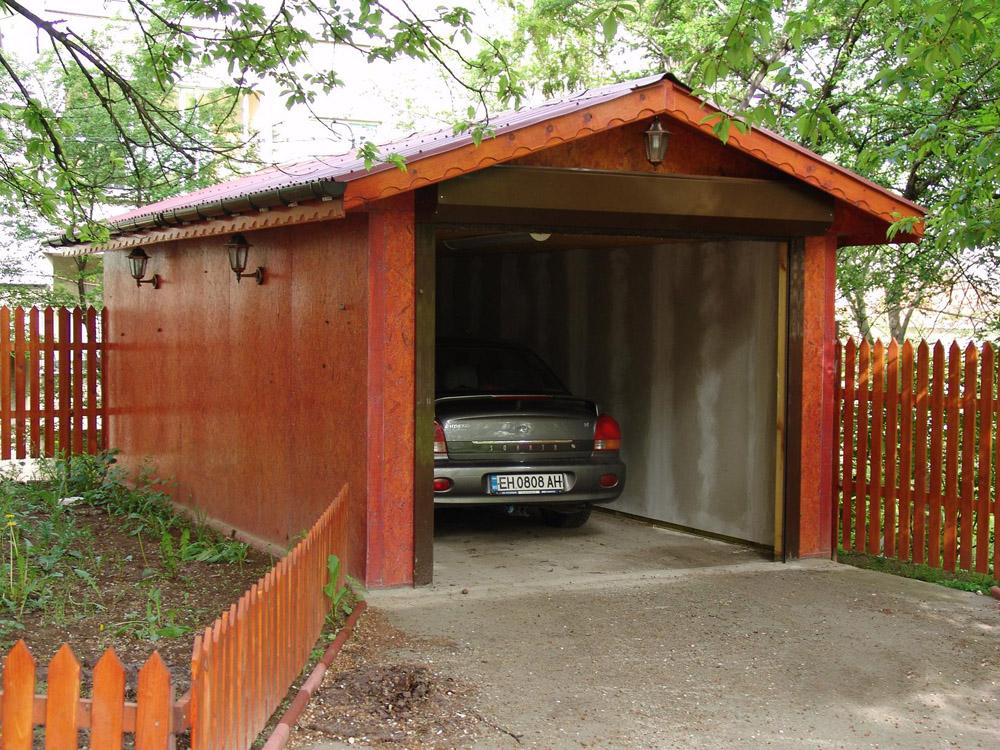 Отдельный гараж тоже требует своего подъездного пути
