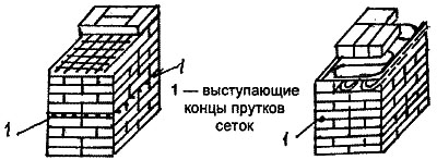 Армирование кирпичной кладки разной сеткой