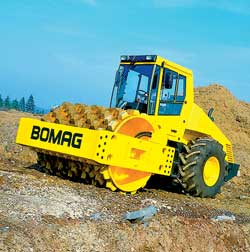 Кулачковый виброкаток фирмы BOMAG