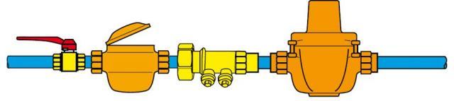Схема установки редукционного клапана
