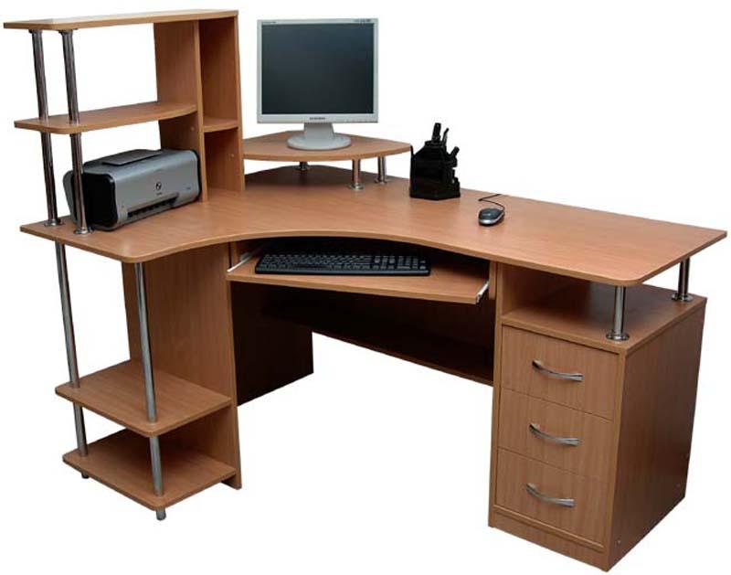 Компьютерный стол Г-образной формы