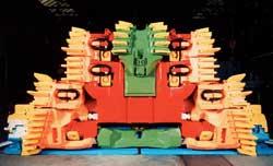 Скользящий струговый исполнительный орган