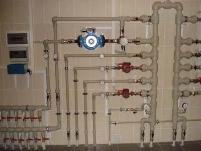 Разводка труб автономного отопления