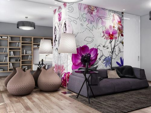 Фиолетовые спальни: фото дизайна, тона и цвет в интерьере с белой мебелью